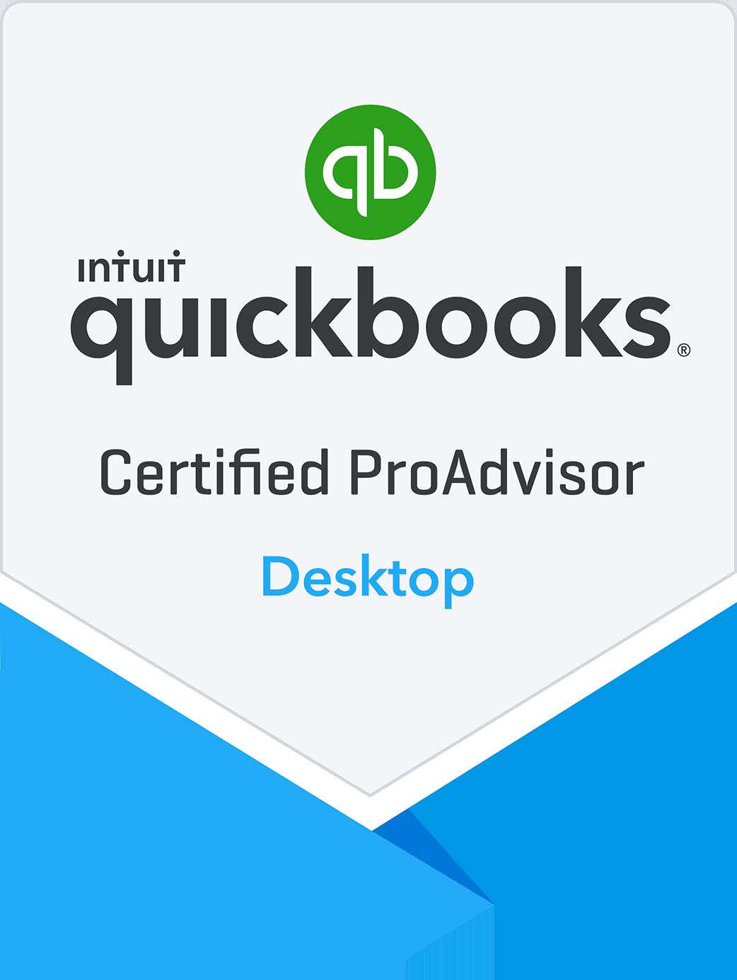 Certified QuickBooks Desktop ProAdvisor